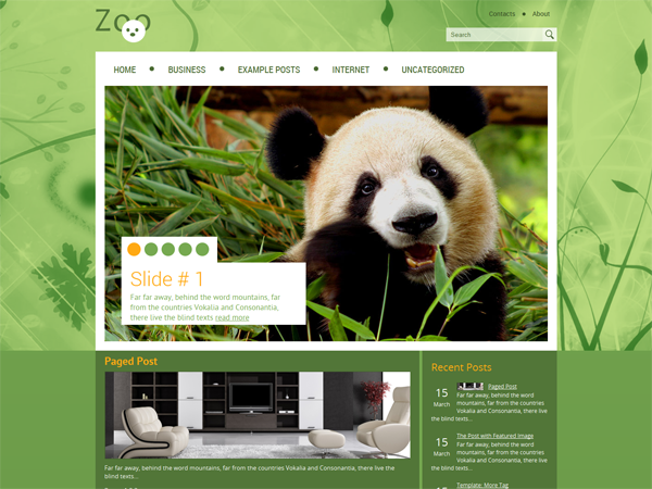 Zoo Free WordPress Theme